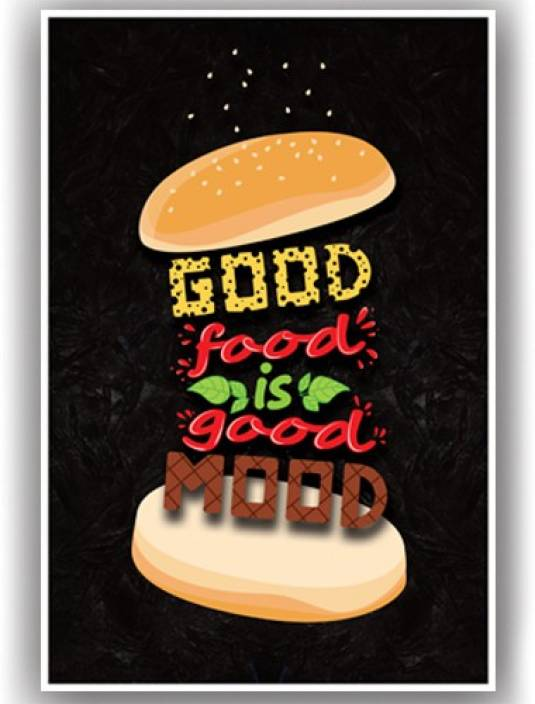 Poster-Good Food Funky Quotes Funny Food Posters for Door