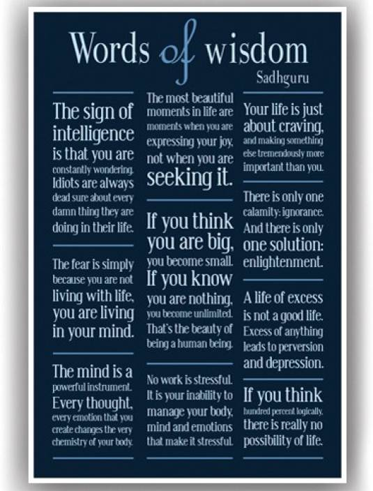 Poster Sadhguru Quotes Motivational Inspirational Wall Poster For
