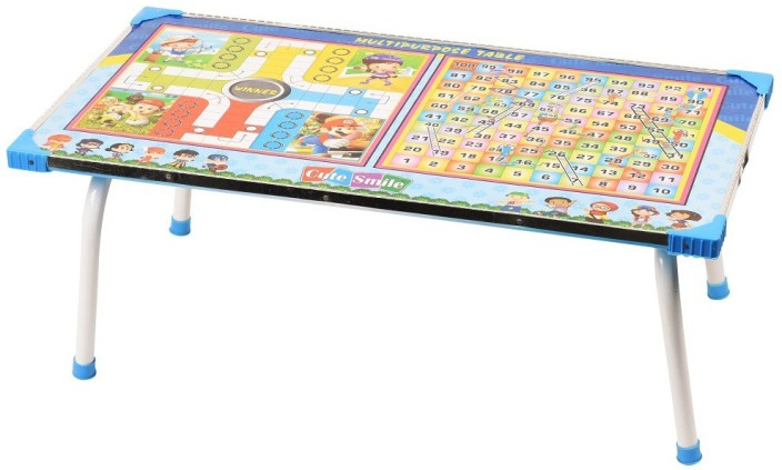 Digionics Wooden Ludo, Snakes And Ladders Printed Foldable Study Table  Engineered Wood Study Table (Finish Color   Multi Color)