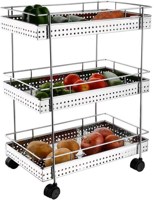 048e406cb78d AMAZE ACTIONWARE Stainless Steel Kitchen Trolley Price in India ...