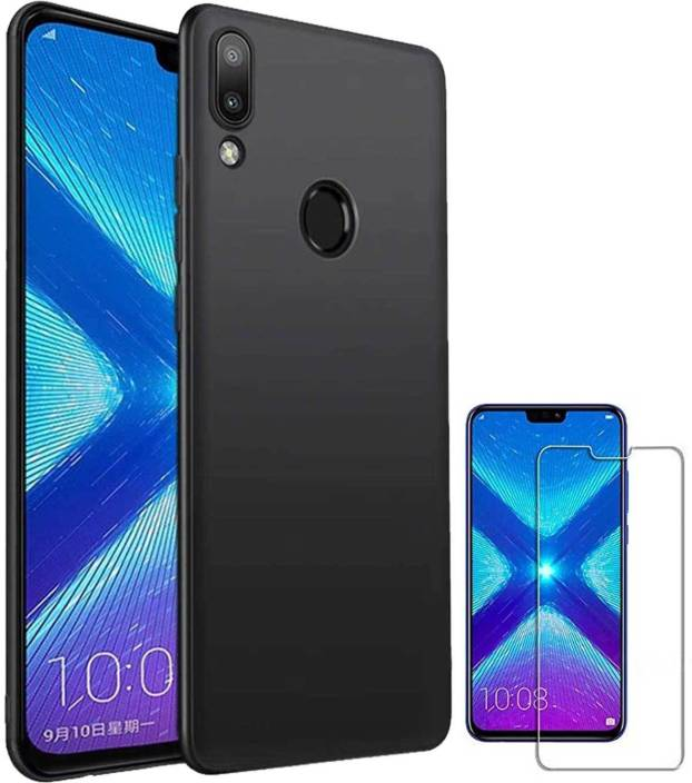 TBZ Cover Accessory Combo for Huawei Honor 8X with Tempered Screen