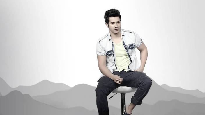 Chandigarh Graphic Superstar Actor Varun Dhawan HD Wall Poster Multicolor Print (CANVAS CLOTH12x18 Inches)