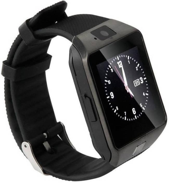 df61aca6ba8 Mindsart A1 Black 4G smartwatch with Bluetooth Smartwatch (Black Strap Free)