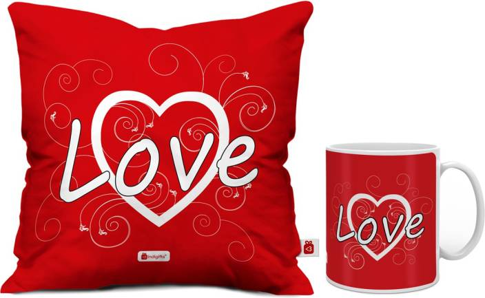 Indigifts Cushion Mug Gift Set