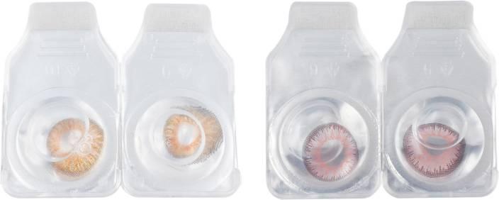 6020de36631 OPTIFY Combo Pack Monthly Color Contact Lens (Zero Power