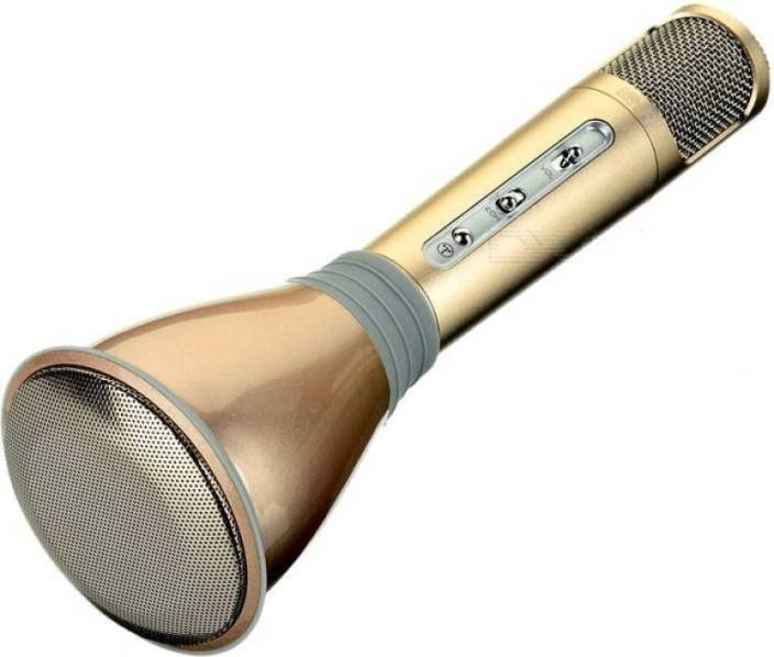 FSF K068 MICROPHONE GOLDEN WITH VOICE RECORDER AND VOICE