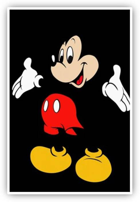 Mickey Mouse Wall Poster Paper Print Quotes Motivation Posters