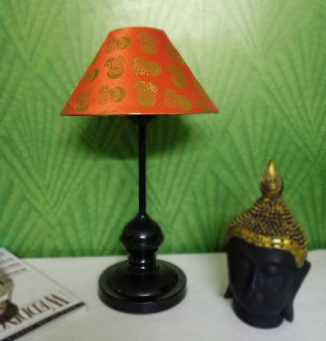 Vrct Orange With Flower Design Shade Conical Shade And Beautiful
