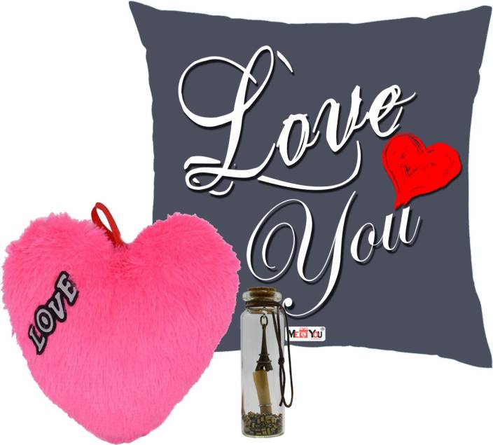 Me You Romantic Gifts Surprise Message Pills With Printed Cushion