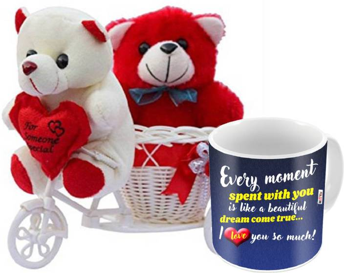 ME&YOU Romantic Gifts, Surprise Cycle Teddy with Mug for
