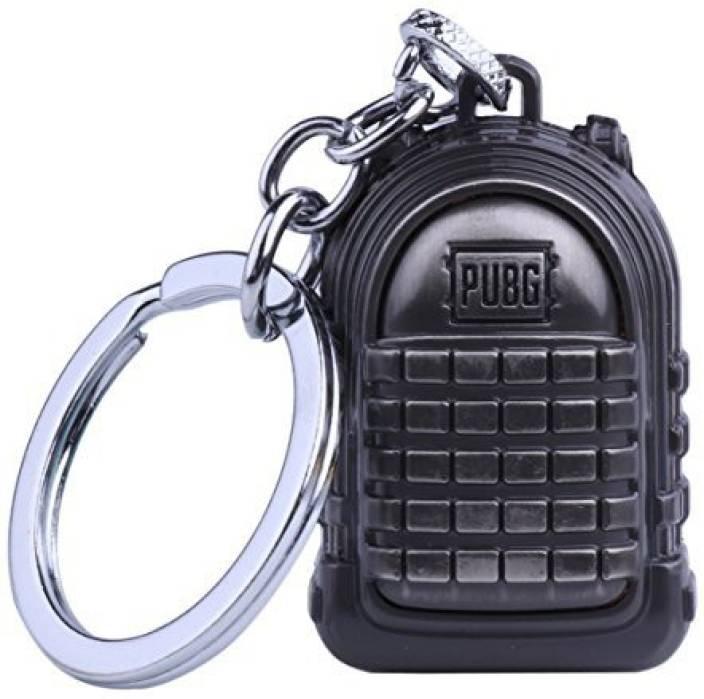 CLICK PUBG Miniature Metal Level 3 Bag Key Chain Key Chain