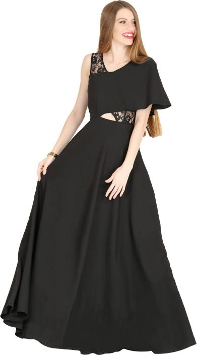 Raas Pret Women's Maxi Black Dress