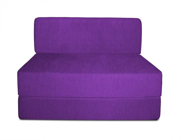 83ee7a0733e Style Crome 3x6 Feet One Seater Sofa Cum Bed Purple Color Single Sofa Bed  (Finish Color - Purple Mechanism Type - Fold Out)