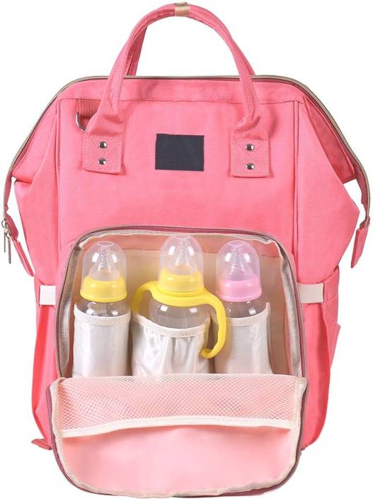 98034d4ab5 PackNBuy Diaper Bag Backpack Stylish Large Baby Mother Smart Travel  Organizer (Pink)