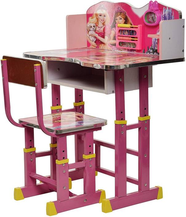 b0df9ee6d96 Kajal Toys Barbie Kids Adjule Height Wooden Study Table And