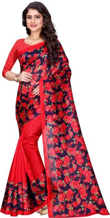 Arzu Fashion Printed Bhagalpuri Silk Saree
