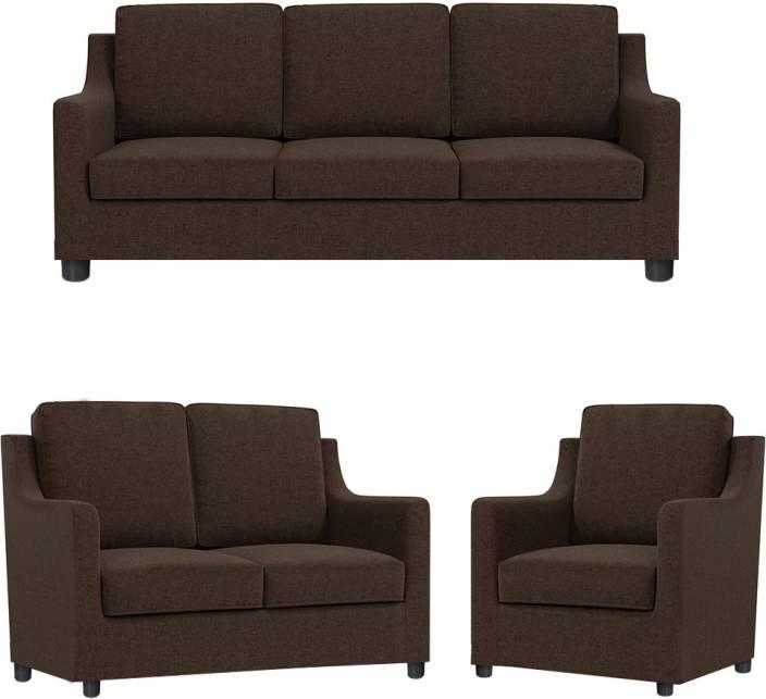 7475ecc3cf GIOTEAK Fabric 3 + 2 + 1 BROWN Sofa Set Price in India - Buy GIOTEAK ...
