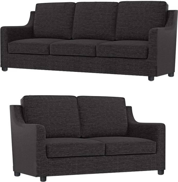 7162fe0ba8 GIOTEAK Fabric 3 + 2 DARK GREY Sofa Set Price in India - Buy GIOTEAK ...