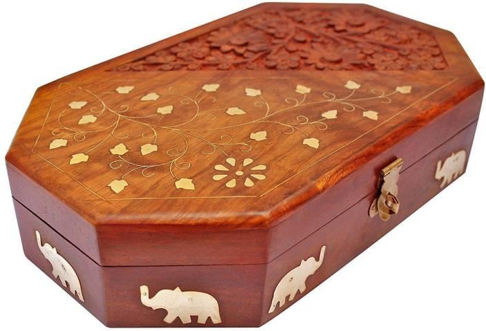 Deko Box deko india wooden vanity box for storage of jewellery vanity box