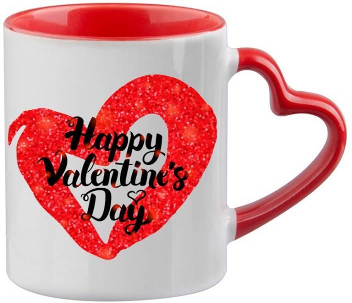 Mugkin Happy Valentine Day Printed For Valentine Day Gift