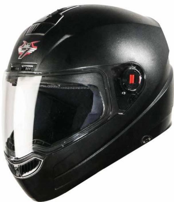 8852e75d Steelbird SBA-1 HF (HANDS FREE) Dashing Black Motorbike Helmet - Buy ...