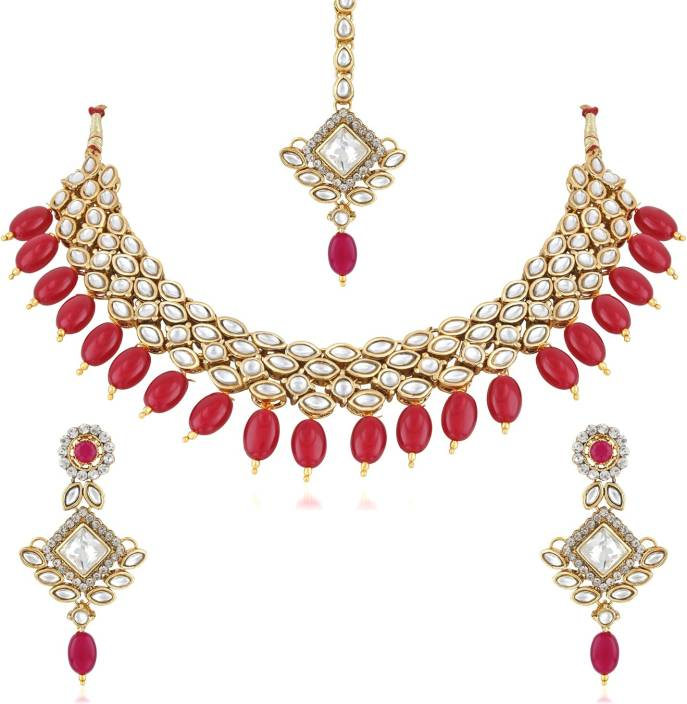Divastri Alloy, Crystal, Stone Jewel Set