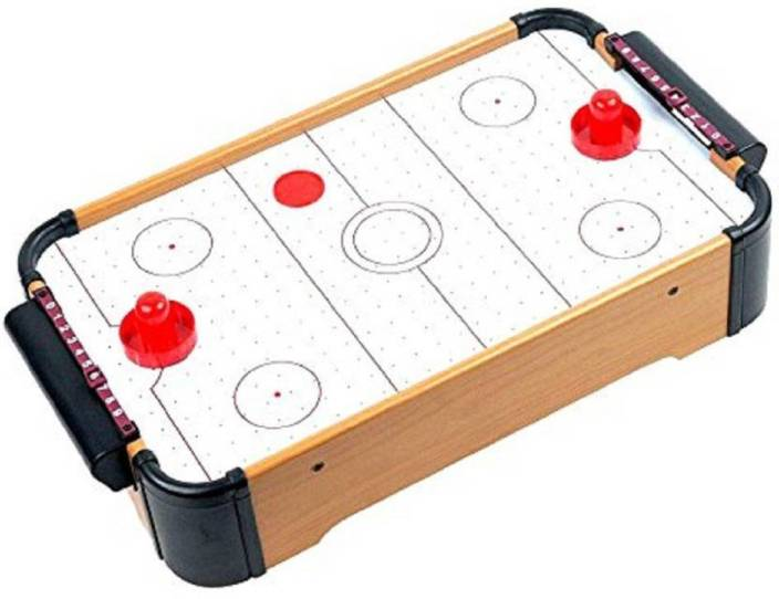 Gencliq Kids Wooden Indoor Mini Air Hockey Game Table Multicolour