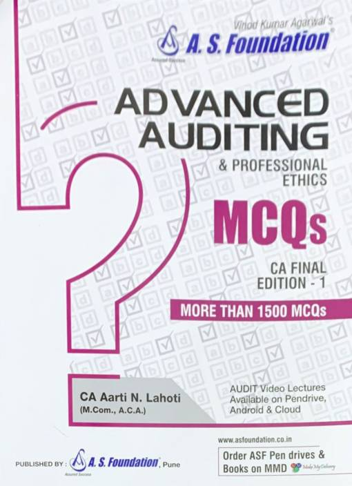 Advanced Auditing & Professional Ethics MCQs For Ca Final: Buy