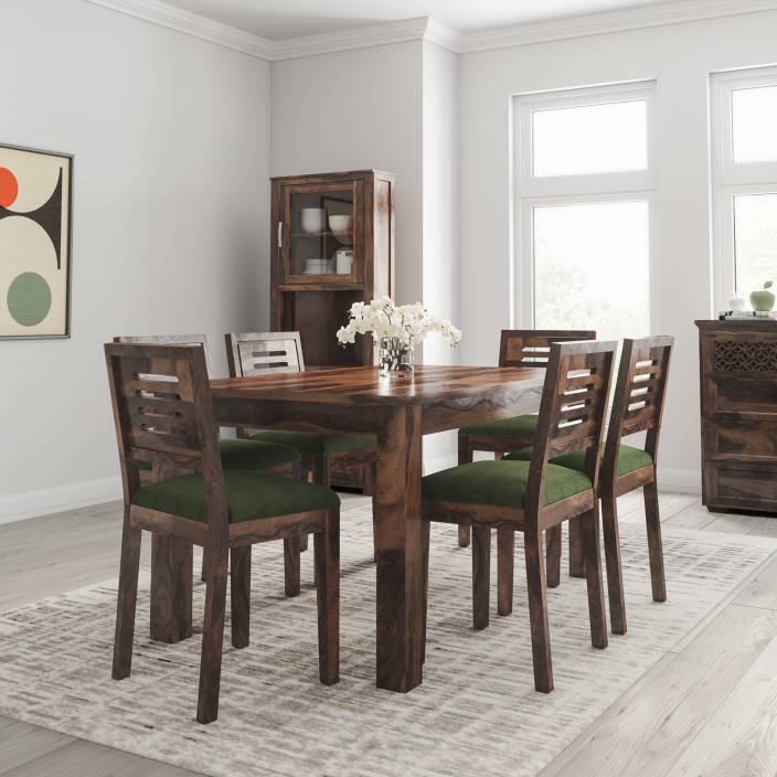 Phenomenal Flipkart Perfect Homes Solid Wood 6 Seater Dining Set Price Home Interior And Landscaping Ologienasavecom
