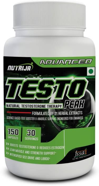 NutriJa Testo Peak- Natural Testosterone Booster Supplement Price in