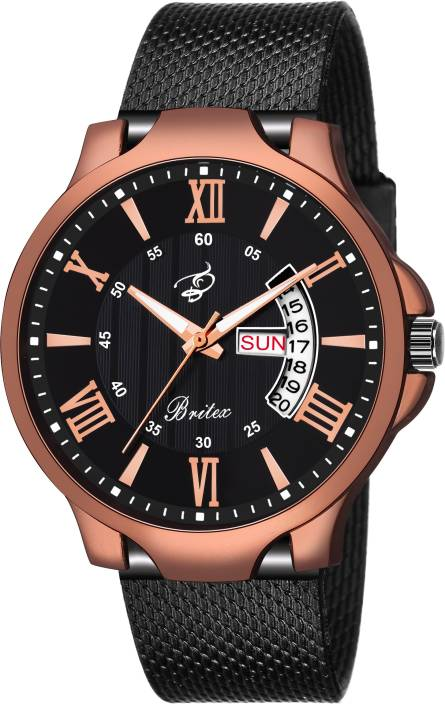 Britex BT7106 Octane Day and Date Functioning Watch - For Men