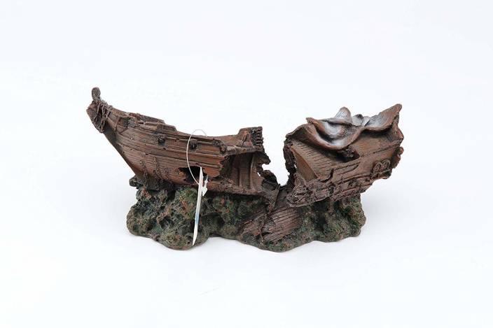 7ed3aa6bd8 Pets Empire Resin Fishing Boat Aquarium Ornament Plastic Decoration ...
