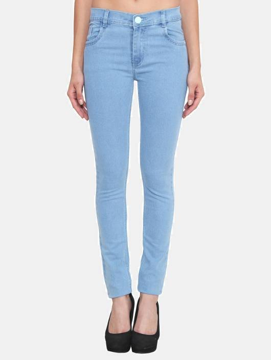Bedwelming Crease & Clips Slim Women Light Blue Jeans - Buy ICE Crease #CF45