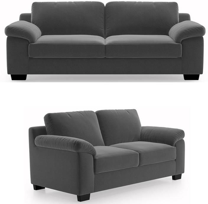 6fa3147272 GIOTEAK Fabric 3 + 2 GREY Sofa Set Price in India - Buy GIOTEAK ...