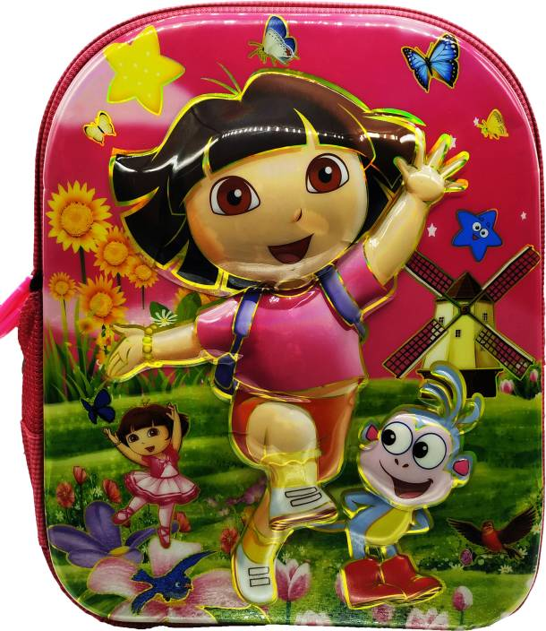Barbie 3D Dra Disney Cinderella Frozen Anna and Elsa Sofia Pink School Bag  Backpack for Girls f1646a1cad16b