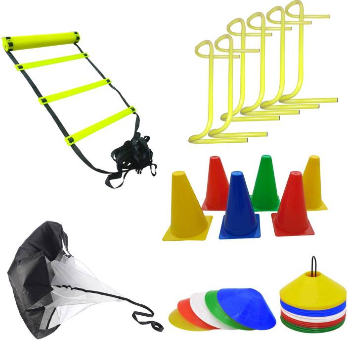 ea7dea122 Foricx Heavy Combo four meter super speed agility ladder, marker cones,  speed running parachute