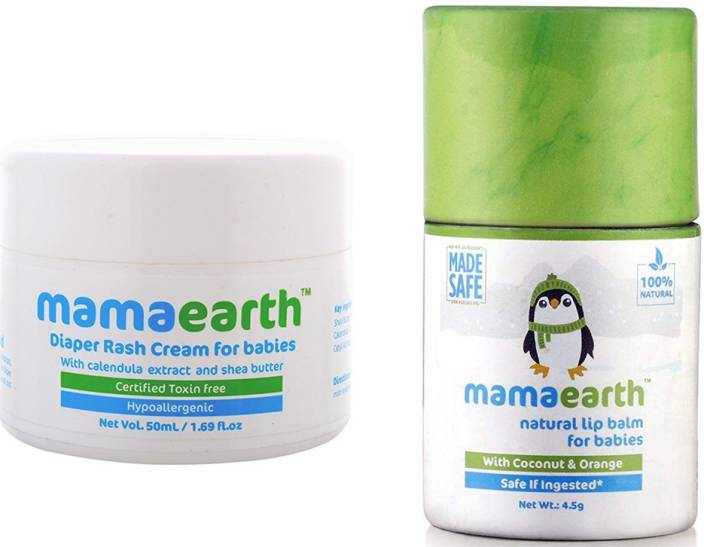 Mamaearth Natural Diaper Rash Cream for Babies 0-5 Years, 50ml änd Natural Baby