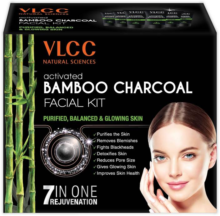 VLCC Activated Bamboo Charcoal Facial Kit 60 g