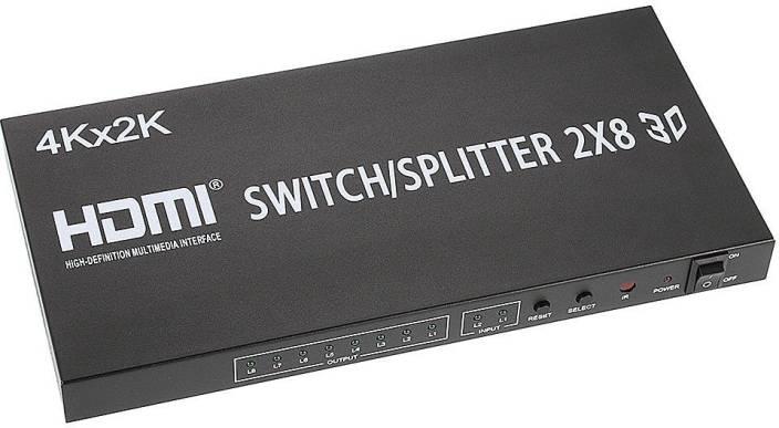 ANDTRONICS HDMI 2x8 Matrix Switch Splitter Converter Switcher With