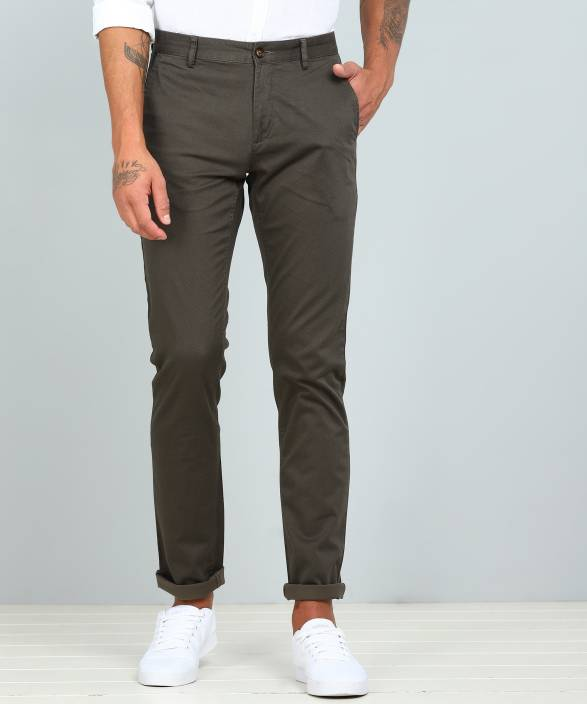 3799e70fbd69 Arrow Sport Regular Fit Men Green Trousers - Buy Arrow Sport Regular Fit Men  Green Trousers Online at Best Prices in India