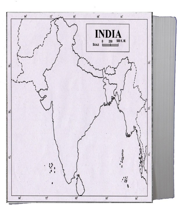 graphic regarding Printable Maps of India called  CRAFTWAFT Bodily MAP OF INDIA BLANK A4