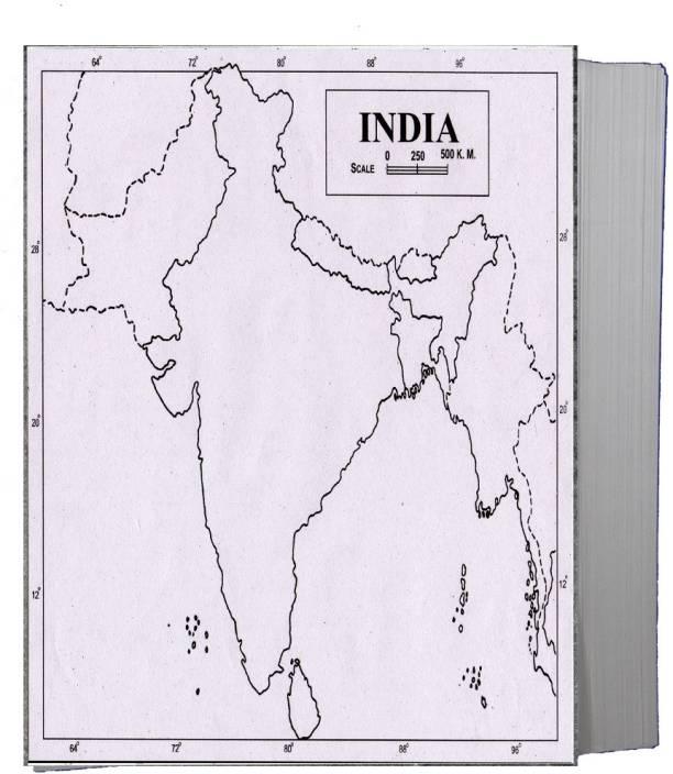 Physical Map Of India Blank Flipkart.| CRAFTWAFT PHYSICAL MAP OF INDIA BLANK A4 Project
