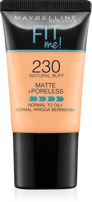 da4c2ddcea6 Maybelline New York Fit Me Matte+Poreless Liquid Foundation Tube Foundation  (230 Natural Buff)