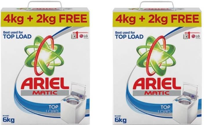 Ariel Matic Top Load Detergent Powder 4KG +2 KG (Pack of 2