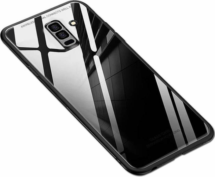 the latest 02cf4 38a38 Mobikit Back Cover for Samsung Galaxy A6 Plus Luxury Toughened Glass ...
