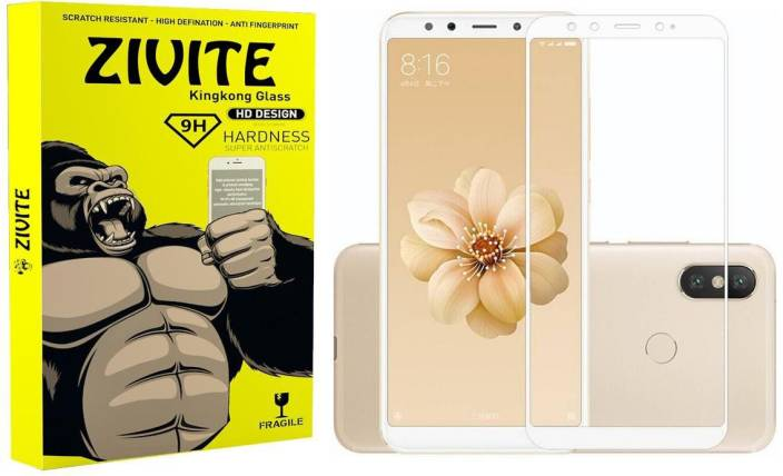 ZIVITE Edge To Edge Tempered Glass for Mi 6X (Pack of 1)