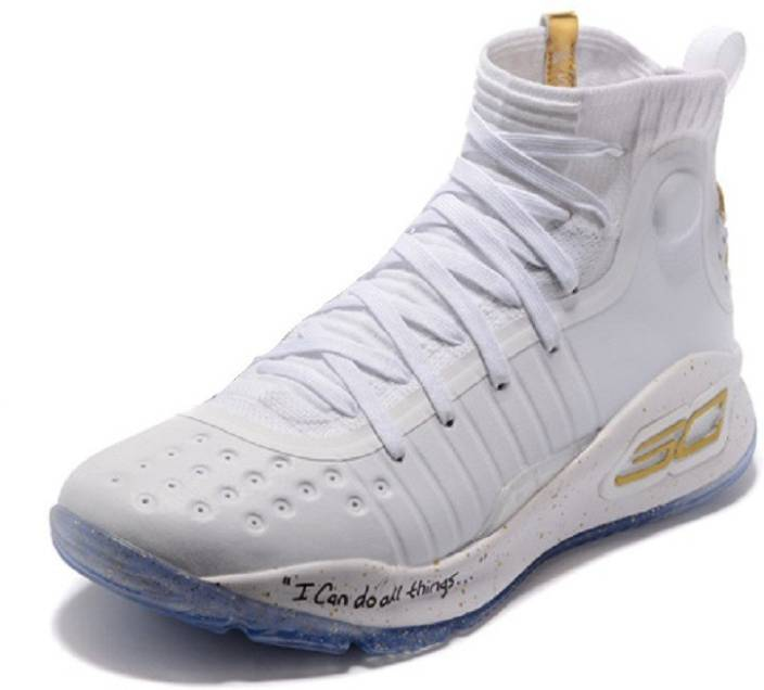 4d89efe172a5 Underarmour UA Curry 4 White Basketball Shoes For Men - Buy ...