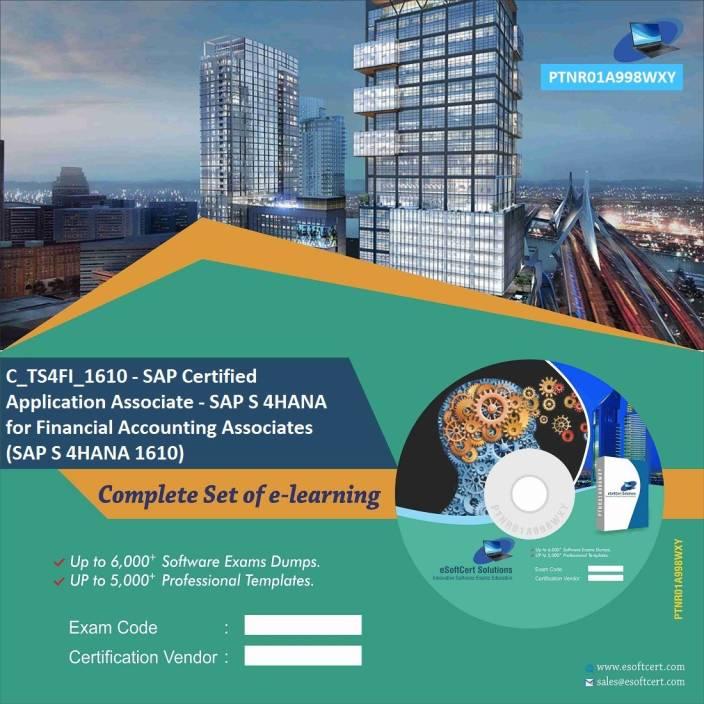 PTNR01A998WXY C_TS4FI_1610 - SAP Certified Application