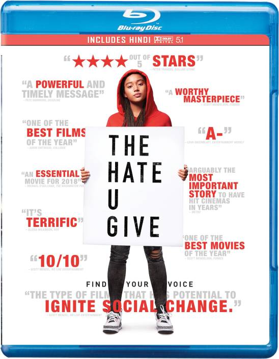 The Hate U Give Region Free Price In India Buy The Hate U Give