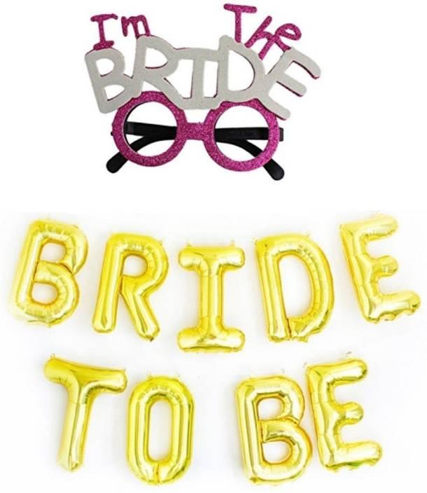 Kala Decorators Bride to be Golden Foil Balloon + I'm the